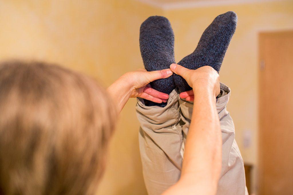 Dorn-Behandlung, Beinlängen-Test